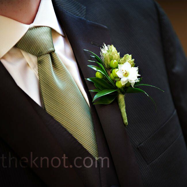Hops wedding boutonniere junglespirit