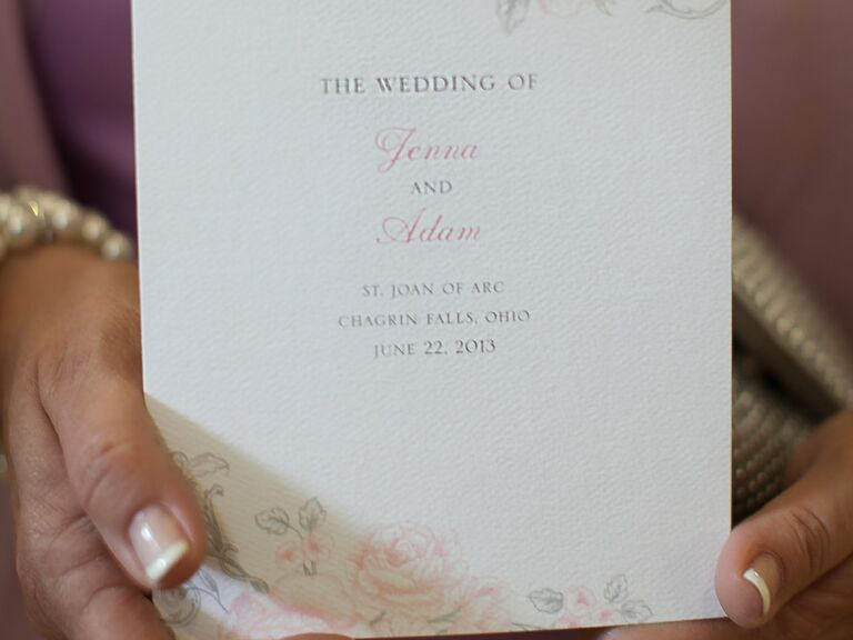 Catholic Wedding Program