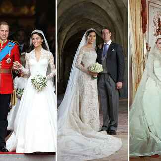 Prince William and Catherine, Duchess of Cambridge, Sofia Hellqvist and Carl Philip of Sweden and Princess Grace Kelly and Prince Rainier of Monaco
