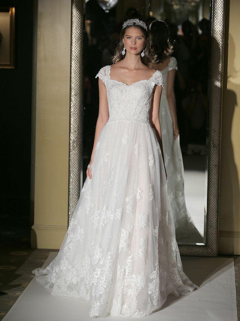 Oleg cassini fall 2017 collection bridal fashion week photos oleg cassini fall 2017 cap sleeved a line wedding dress junglespirit Images