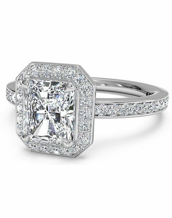 Ritani Radiant Cut Halo Micropave Diamond Band Engagement Ring in Platinum (0.28 CTW) Engagement Ring photo