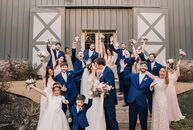 Abby LeLeux and Tyler Ingram's barn wedding at Sainte Terre in Bossier Parish, Louisiana, had a recurring motif: roses. The flower first showed up in