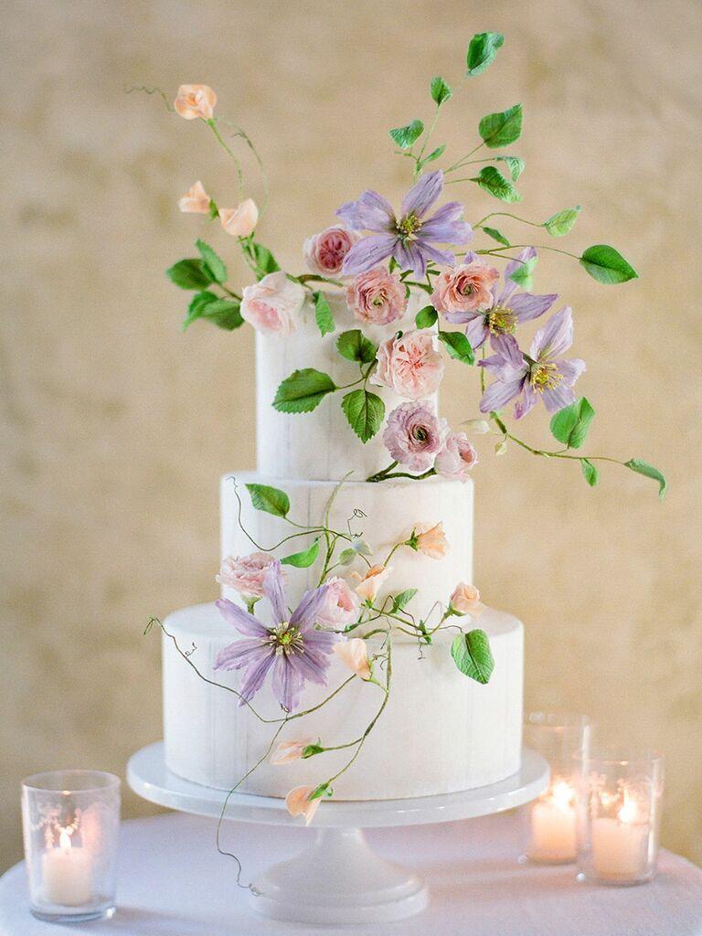 Floral Vine Wedding Cake