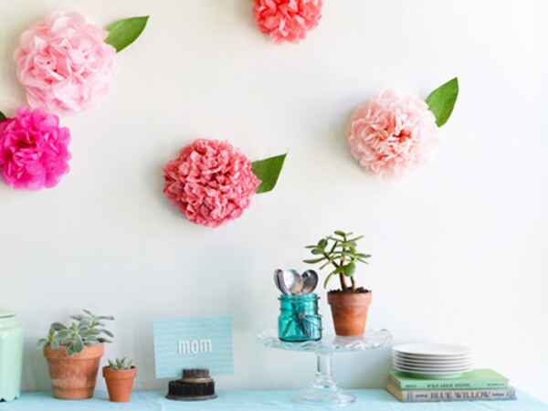 DIY these paper peonies to set the stage for a beautiful Mother's Day Brunch