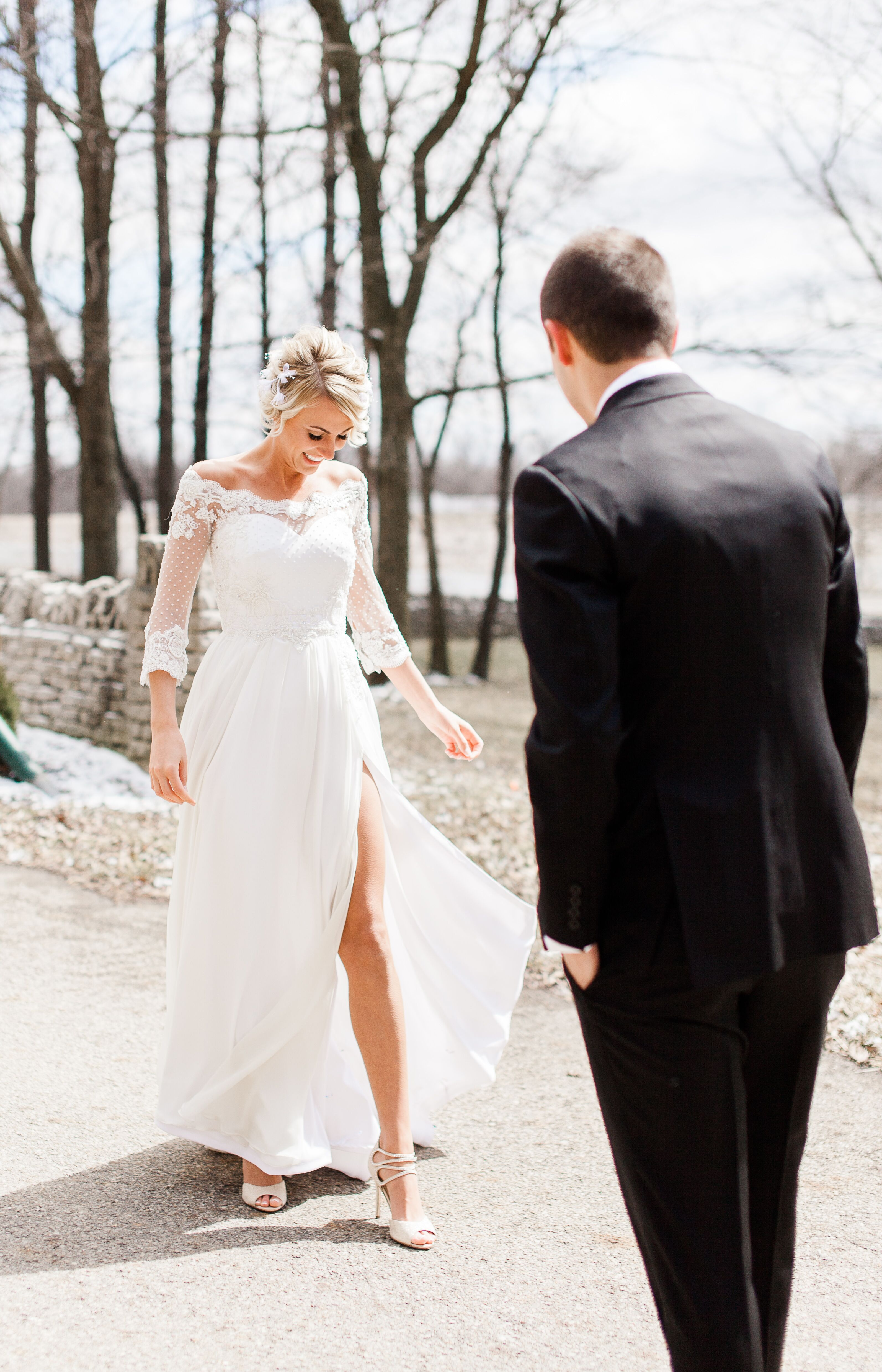 White Kendra Christine Custom Made Wedding Dress