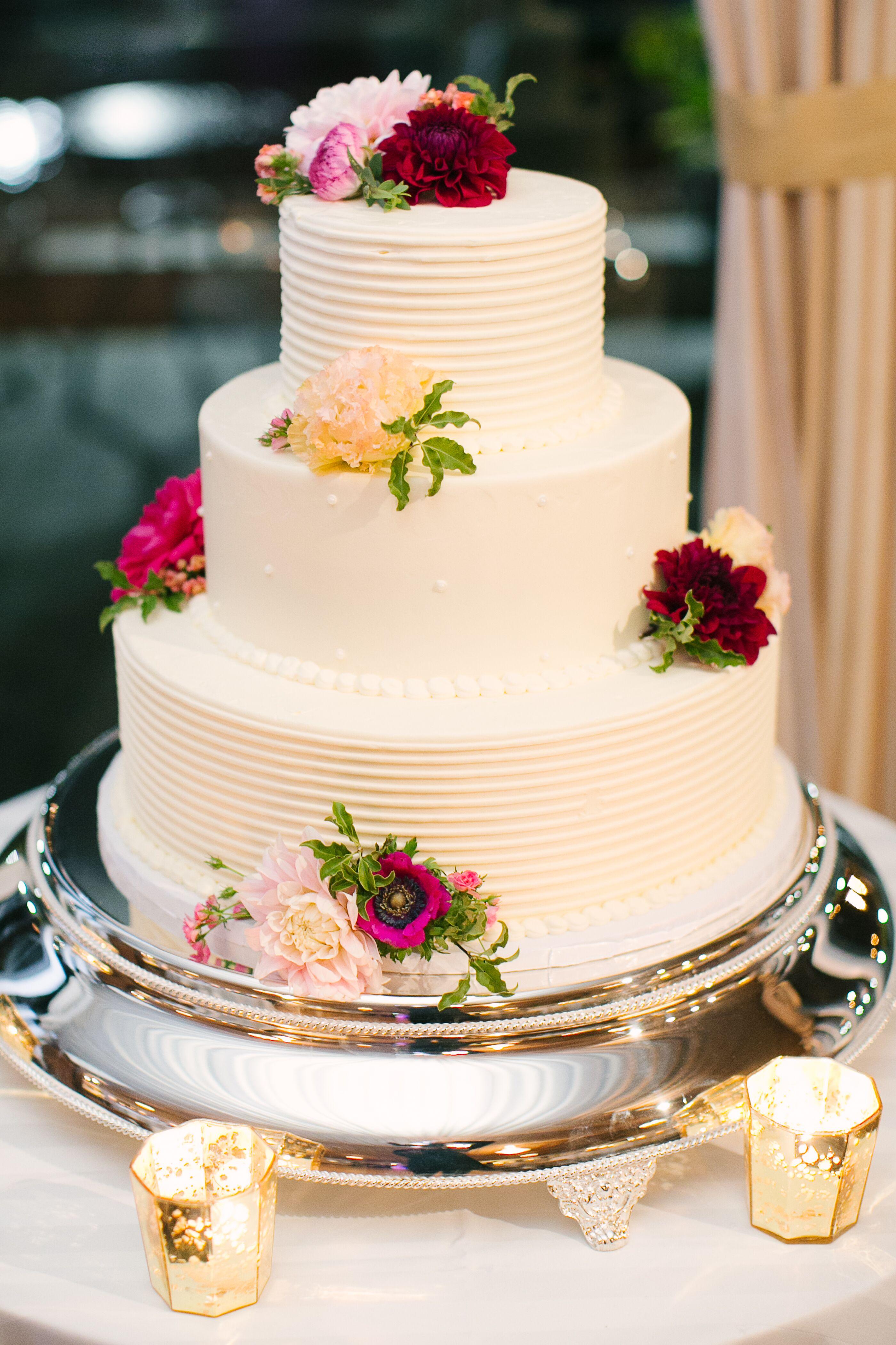 White Textured Buttercream Wedding Cake | Buttercream