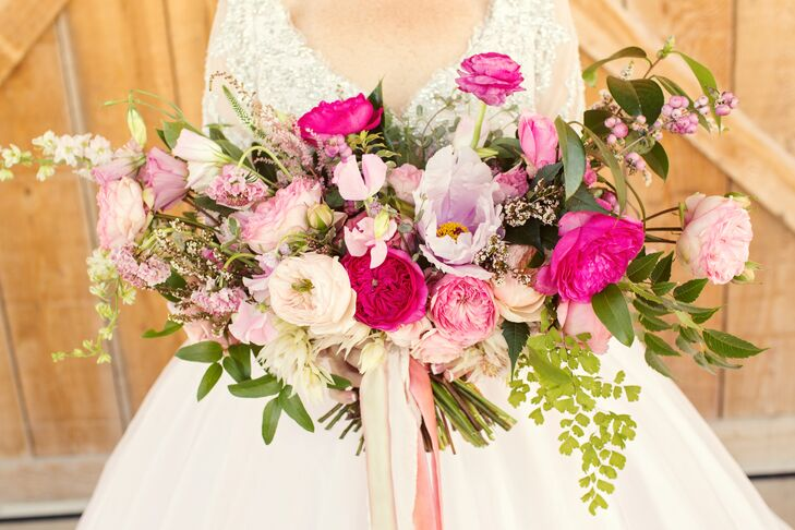 Oversized Garden Rose, Wildflower and Greenery Bouquet