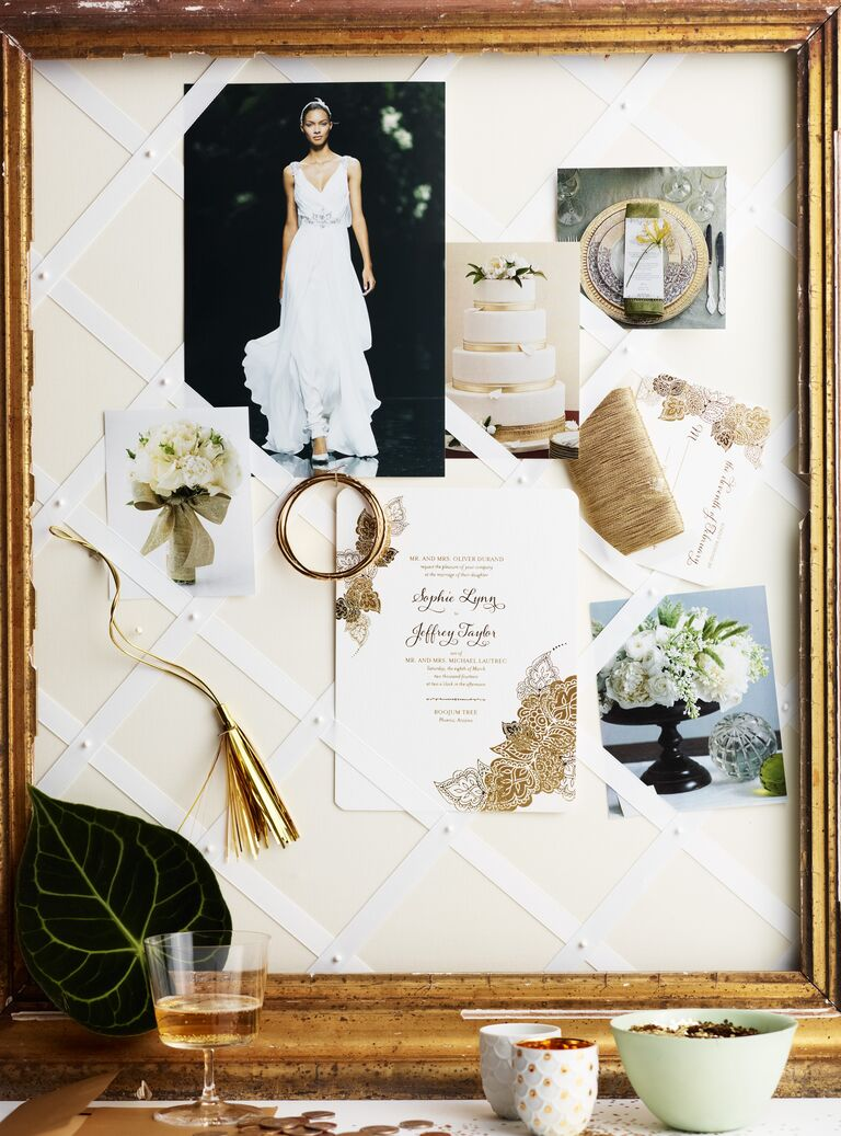 Wedding planning inspiration board
