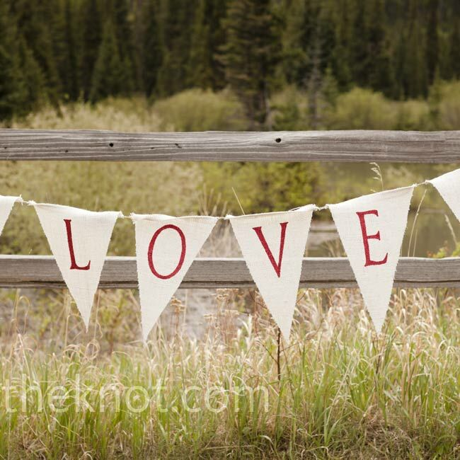 Burlap Wedding Altar: Ceremony Altar Banner