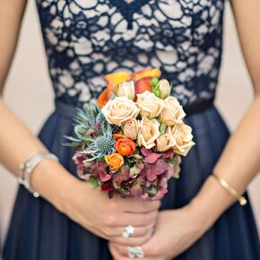 Blue wedding bouquets compact multicolor bridesmaid bouquet junglespirit Choice Image