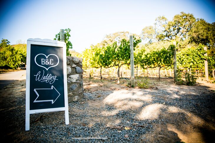 The wedding ceremony was held on a large lawn beneath an aged magnolia tree. Brooke and Caitlin exchanged vows below a handmand huppah accented with hydrangeas and natural greenery with the vineyard vines and mountain scenery in the background.