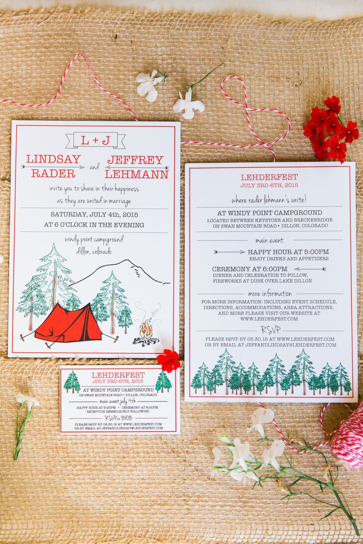 Camping-Inspired Wedding Invitations