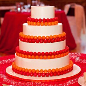 Red And Orange Gumball Cake