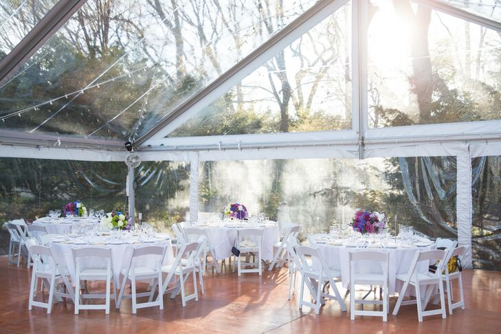 """Our favorite part was the clear tent where our reception was held,"" Lisa says. ""It was spacious enough to accommodate our guests with plenty of room for a huge dance floor, which was very important to us."""