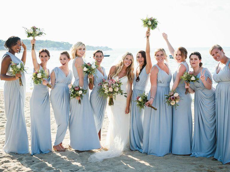 Bridesmaids same color different dress