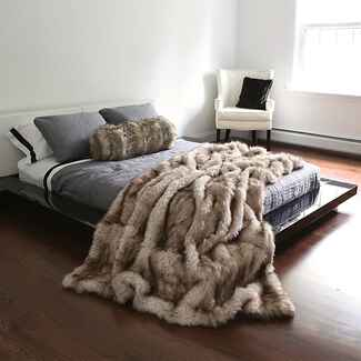 Faux Fur Throw wedding registry item