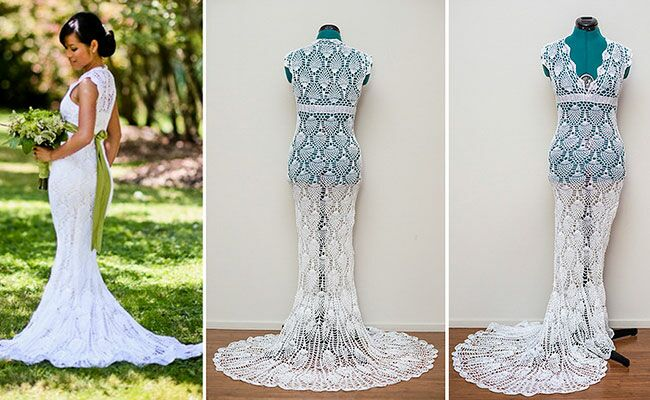 This Bride Crocheted Her Wedding Dress On The Bus to Work!