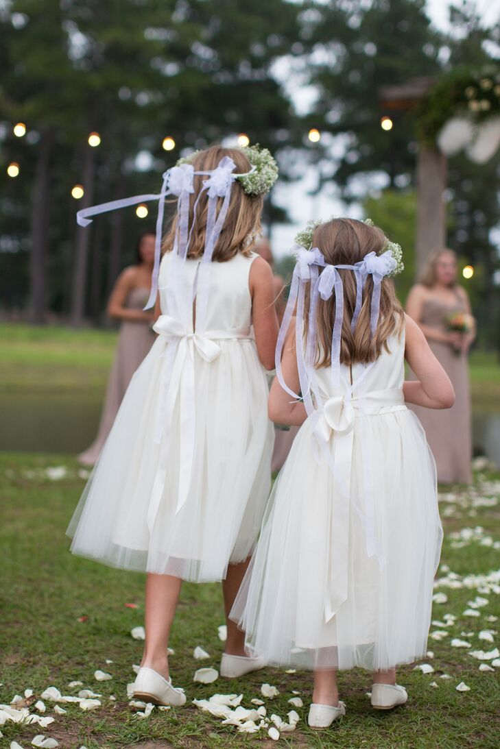 Ivory Flower Girl Dresses With Tulle