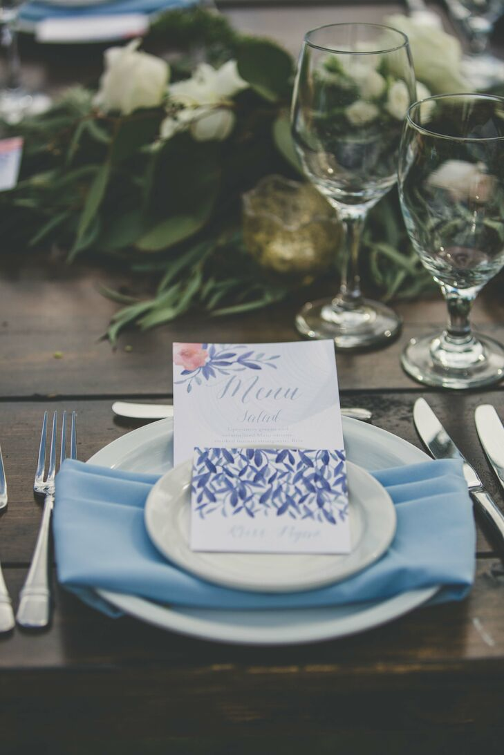 Hand-Painted Watercolor Place Cards