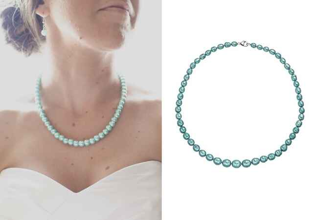 Blue Pearl Necklace |<img class=
