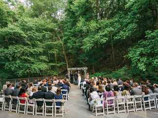 Wedding processional and guests