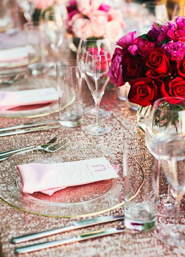 Reception Place Settings and Centerpieces