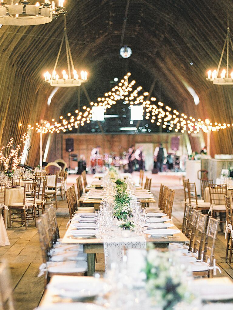 Family Style Tables And Round For A Rustic Wedding Reception