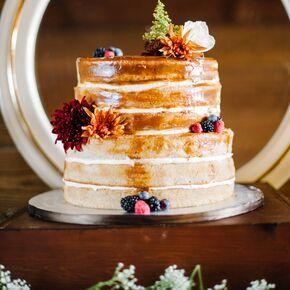 Fall wedding cakes naked fall inspired wedding cake junglespirit Images