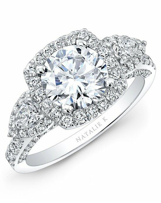 Natalie K Trois Diamants Collection - NK28727-18W Engagement Ring photo