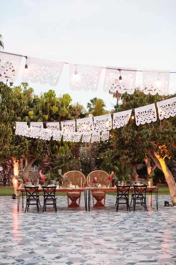 Papel Picado Reception Canopy