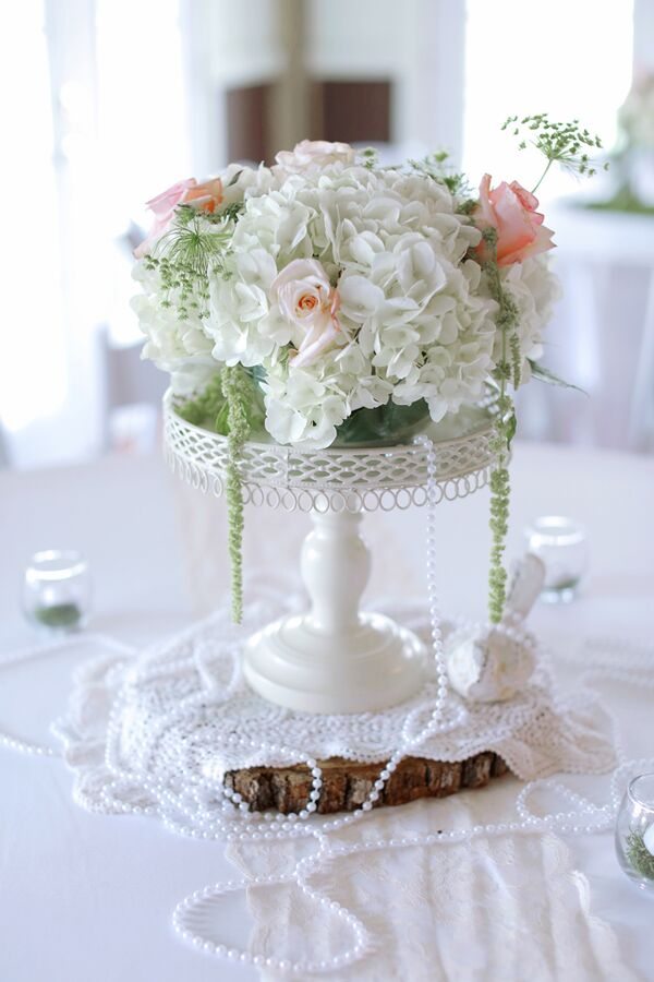 Diy wedding flower arrangements diy colorful succulent bouquet vintage inspired rose and hydrangea centerpiece with pearls junglespirit Images