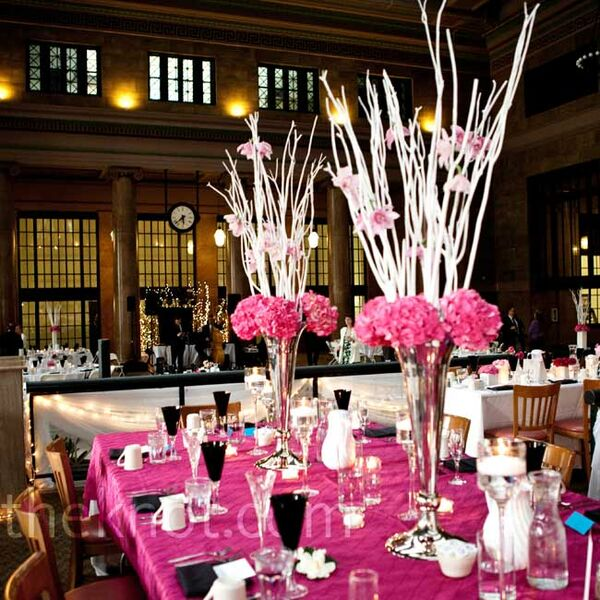 Pink Reception Decor