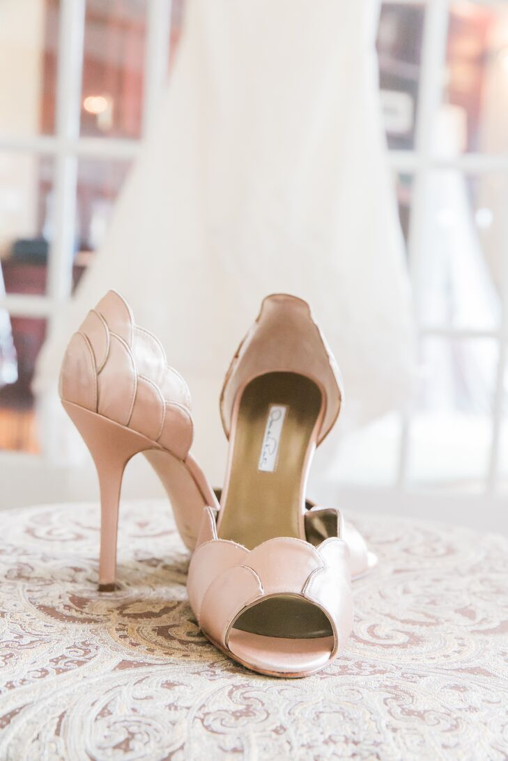 Blush Open-Toed Bridal Shoes