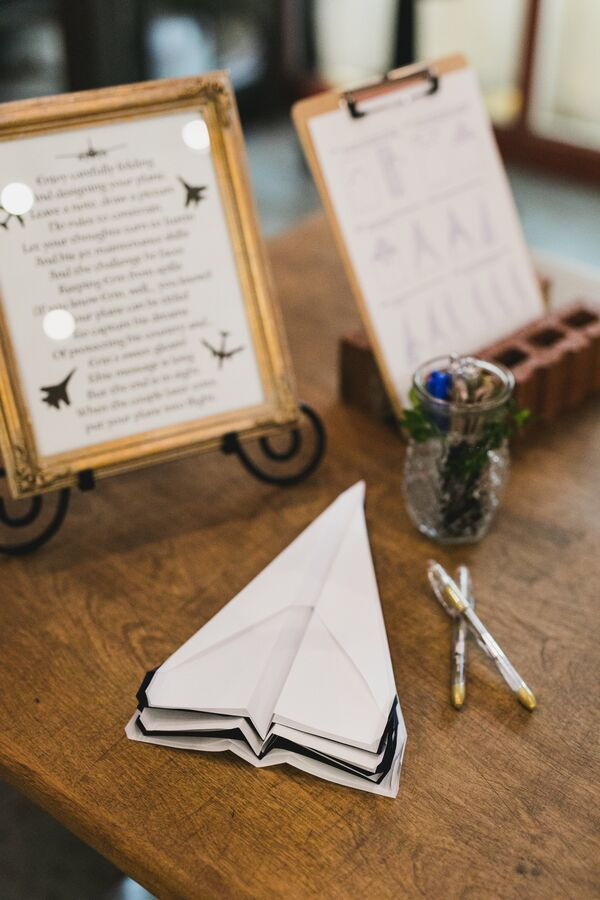 Paper Airplane Guest Book