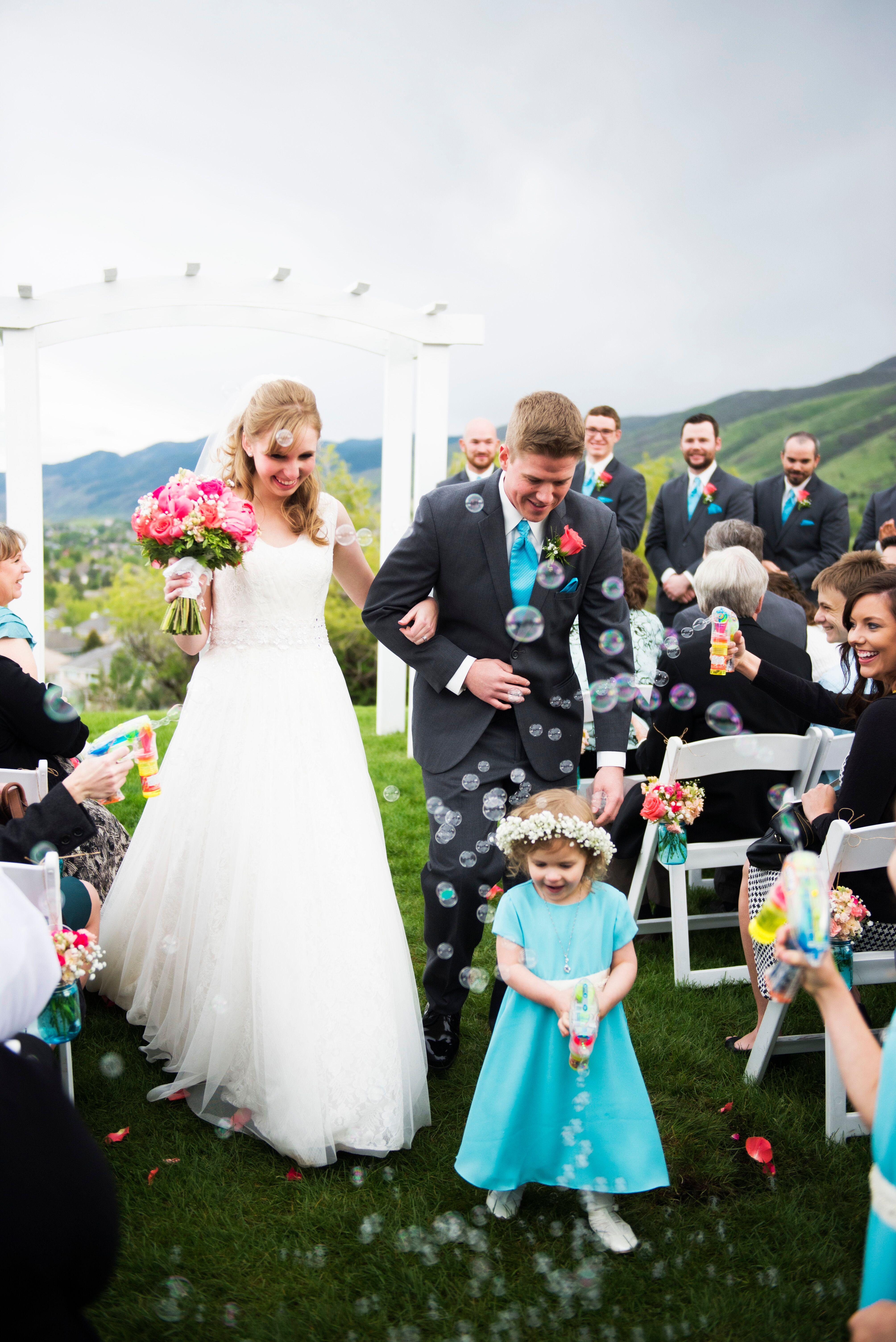Bubble Gun Wedding Recessional