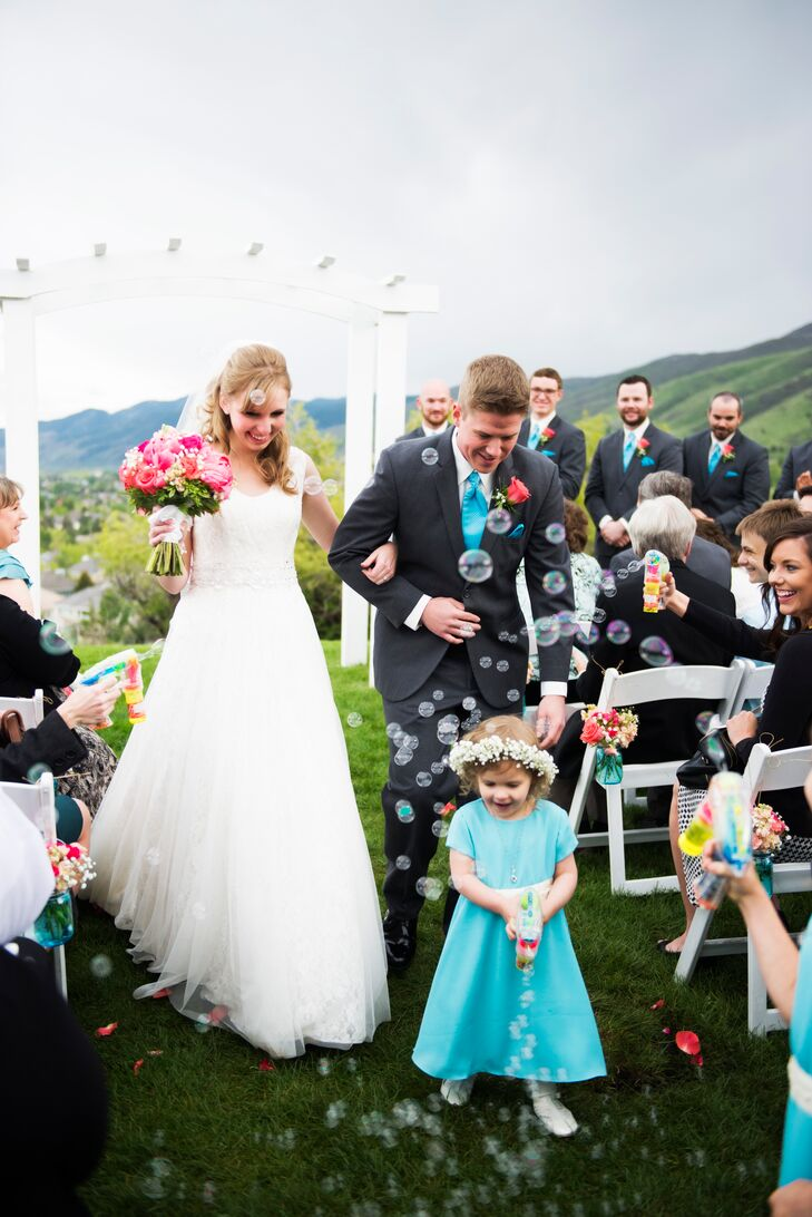 Bubble Gun Wedding Recessional