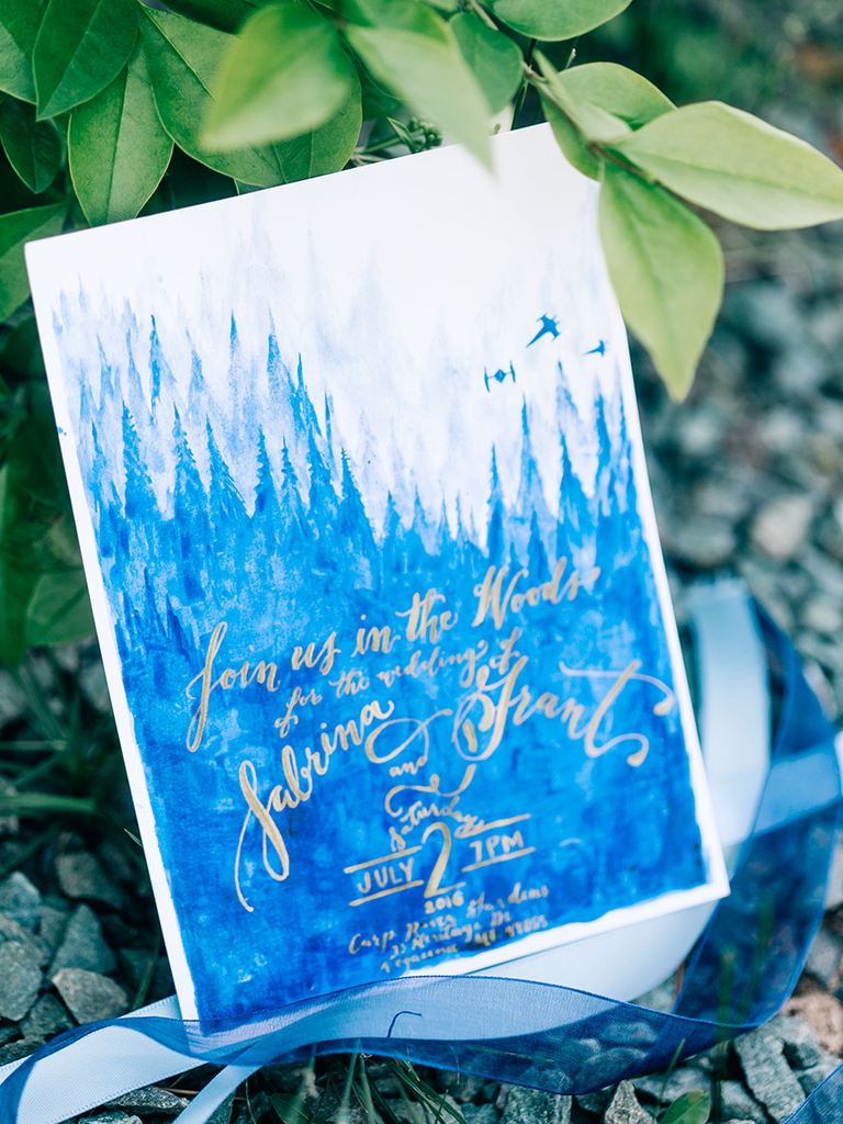 Watercolor painting save-the-date idea