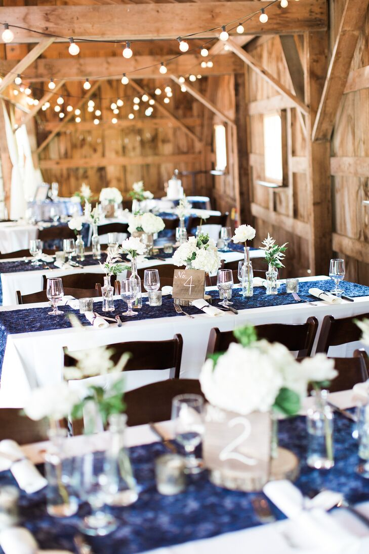 Navy Lace Table Runners
