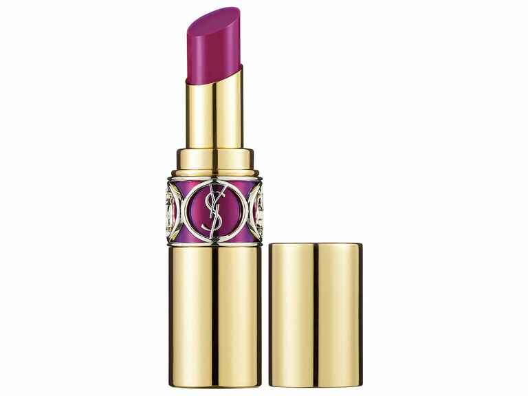 The Knot wedding lipstick party lip Yves Saint Laurent lipstick in Fuchsia