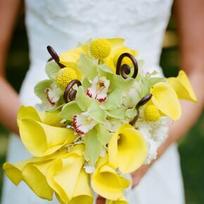 Yellow wedding bouquets yellow calla lily bridal bouquet mightylinksfo