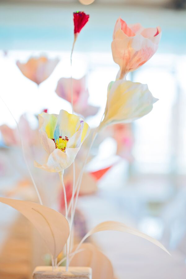 Colorful Paper Flower Centerpieces