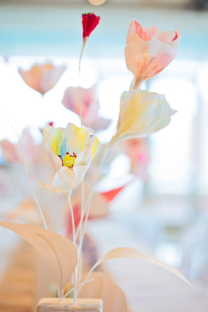 Colorful Paper Flower Centerpieces