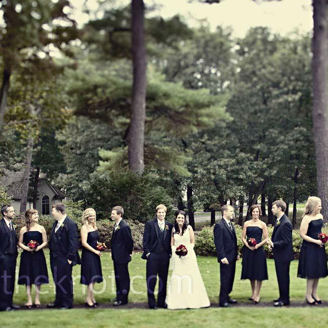 All-Black Wedding Party