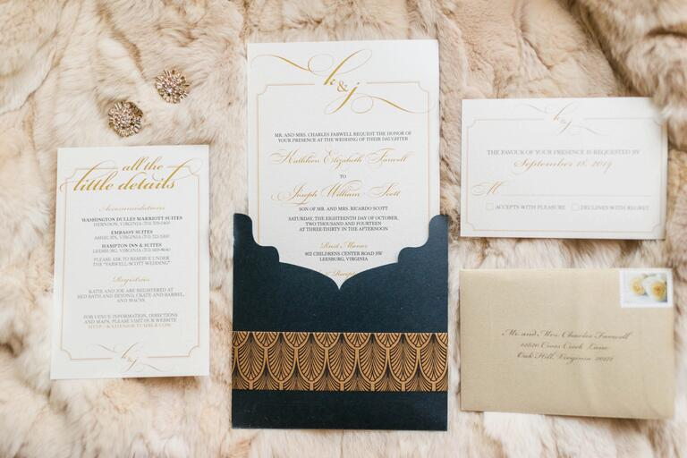 Luxe wedding invitation suite