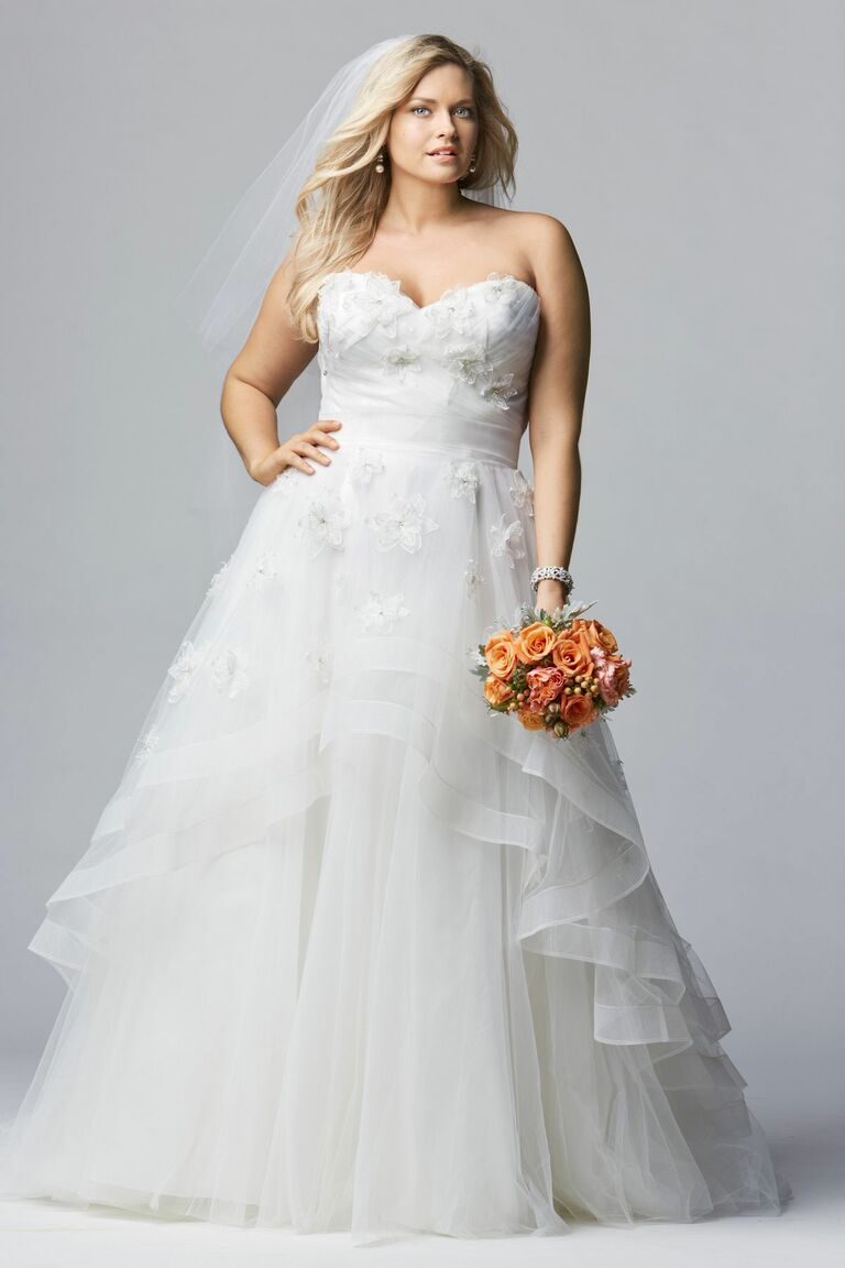 Wtoo Curves Tiered Ball Gown Plus Size Wedding Dress