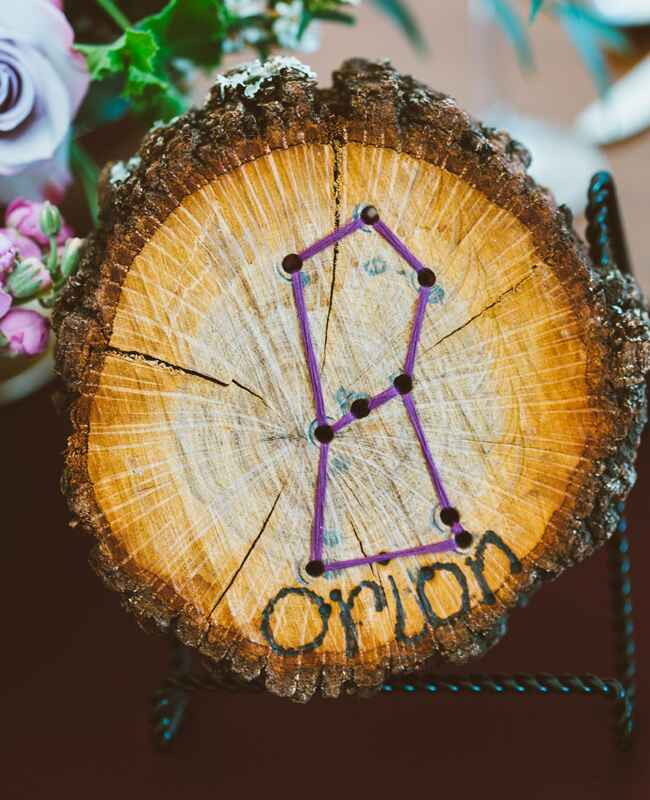 Constellation Table Number | Al Gawlik Photography | blog.TheKnot.com
