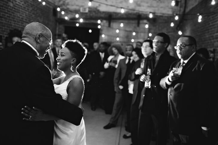 Sweet Father-Daughter Dance at Art Gallery Reception
