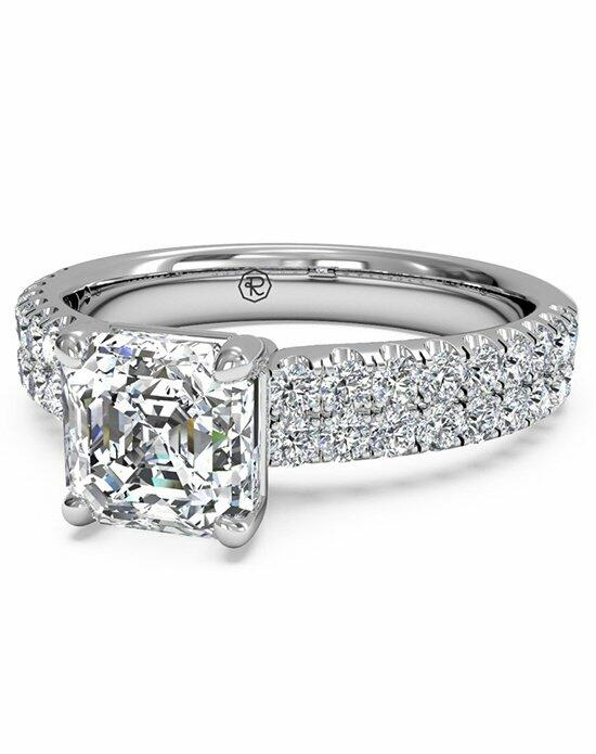 Ritani Asscher Cut Double French-Set Band Engagement Ring in Platinum (0.59 CTW) Engagement Ring photo