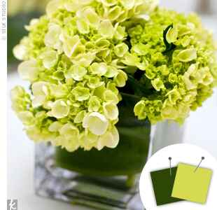 Green wedding centerpiece