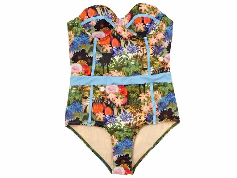 flowery onepiece suit